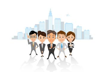 ビジネス グループ ビル群 横長