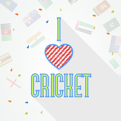 Poster or banner design for Cricket with stylish text.