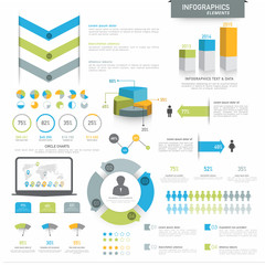 Big set of  business infographics elements.