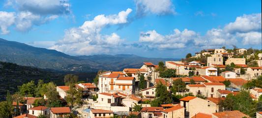 Vofou village panorama. Cyprus