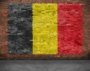 Flag of Belgium and ground