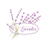 Label with lavender