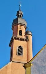 Kirchturm, Eibelstadt bei Würzburg