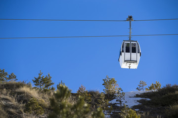 Cable car in ski Resort Sierra Nevada, Granada
