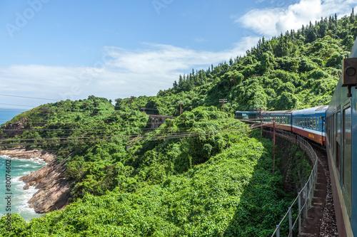 Papiers peints Autre The train to walk in the mountains,vietnam
