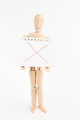 デッサン人形とスケッチブック ×