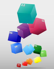 infographics multicolor visually surround 3d vector illustration