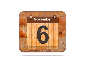 November 6.