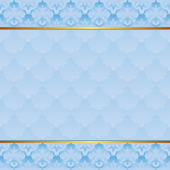 blue background with vintage pattern