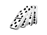 Falling dominoes, vector illustration