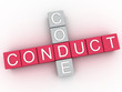 3d image Conduct Code  issues concept word cloud background