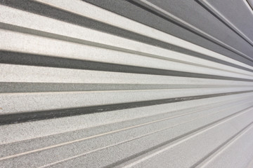 Corrugated facade