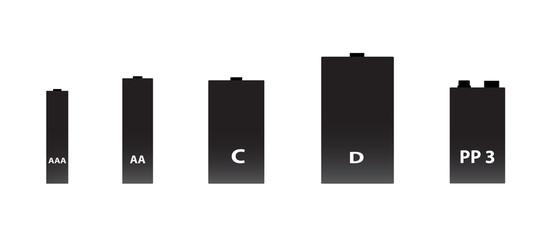 battery 5 sizes