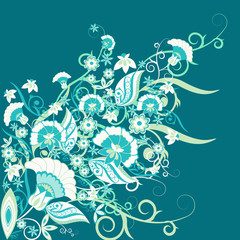 retro-floral-ornament-blue