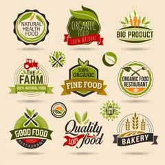 Organic and Ecology Web Icon and logo Set