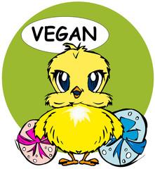 Easter: happy vegan chick