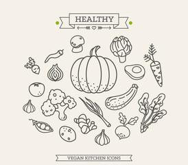 Line Icon vegetables