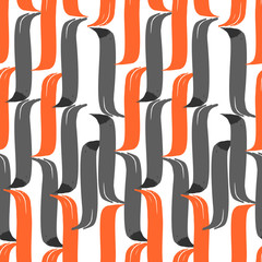 Seamless brush pen hand drawn doodle pattern. Vector background
