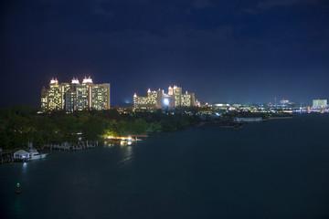 nassau, bahamas at night