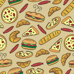 seamless food pattern