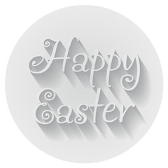 Happy Easter Hand lettering Typographical Vector Greeting Sign