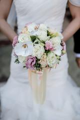 Short focus of Bride bouquet