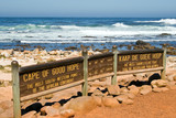 Sign of the Cape of Good Hope. In the background the sea.