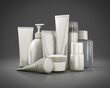 Cosmetics set on a gray background - 80083878