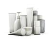 Leinwanddruck Bild - Cosmetics set on a white background