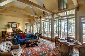 spacious home interior with windows