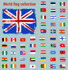 world flag collection set