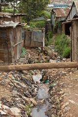 Filth and sewage, Kibera Kenya