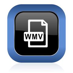 wmv file square glossy icon