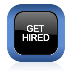 get hired square glossy icon