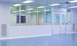 Leinwanddruck Bild - Porte di separazione in edificio ospedaliero
