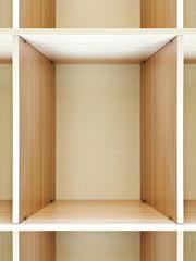 empty wooden shelving