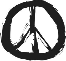 doodle grunge peace sign
