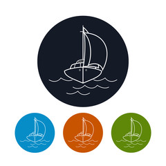 Icon yacht,  vector illustration