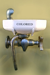 colored only water fountain
