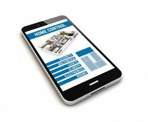 smartphone home remote control render