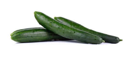 fresh cucumbers isolated on white background
