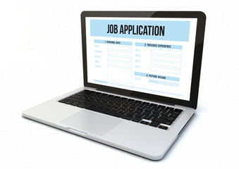 laptop job application