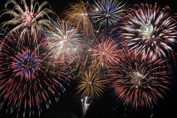 Neujahr und Silvester mit Feuerwerk