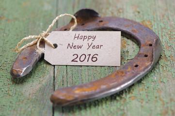 Neujahr und Silvester 2016 mit Glücksbringer Hufeisen