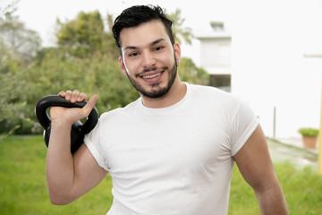 Man after workout