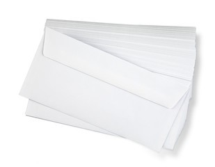 Stack of  envelopes.