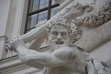 Hercules fighting the Hydra, Hofburg Palace, Wien, Austria
