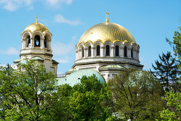 Golden Domes of St. Alexander Nevsky Cathedral in Sofia