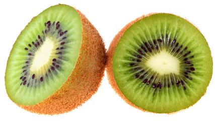 Ripe kiwi cut close up
