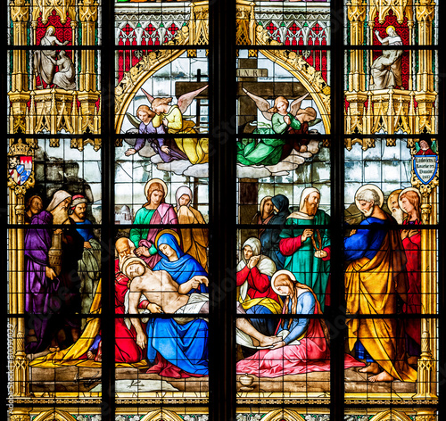 Zdjęcia na płótnie, fototapety, obrazy : Detail of the stained glass window
